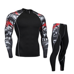 cycling base layer xl NZ - Bicycle Underwear Men Compressed Sports Underwear Cycling Base Layer Men Workout Set Jogging Sportswear Track Suit Gym Man 4XL
