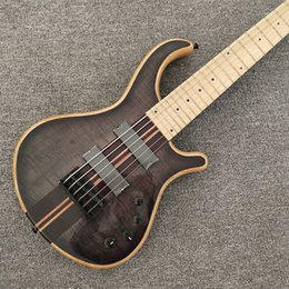 $enCountryForm.capitalKeyWord Australia - Custom factory wholesale and retail optimal price custom 6 string bass, ebony fingerboard, natural color back, black hardware electric guita