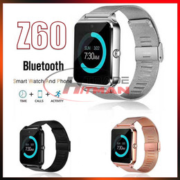 $enCountryForm.capitalKeyWord Australia - Z60 Bluetooth Smart Watch Android iOS Phone Wristwatch Support SIM TF Card Camera Fitness Tracker GT08 GT09 DZ09 A1 V8 Smartwatch