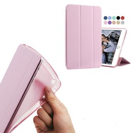 Wholesale Fold Tablet PC Case Clear Silicone Soft Cover for iPad Air Mini Pro iPad Case