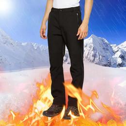 Warm Waterproof Pants Men Australia - Men's Winter Pants Male Stretch Warm Thick Fleece Lining Trousers Mens Windproof Waterproof Softshell Pants For Men AM366