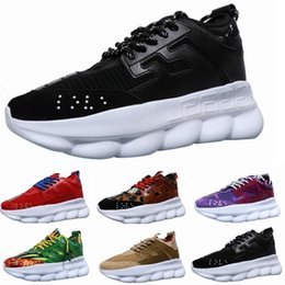 Blue ace online shopping - New Luxury Chain Reaction Brand mens Designer shoes Trainers Casual ace Shoes Lightweight Chain linked Rubber designer sneakers size