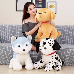 husky plush pillow UK - 2019 Pop Lovely Soft Animal Dog Plush Doll Big Stuffed Cartoon Husky Toy Pillow for Kids Gift Decoration 20inch 50cm