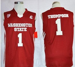 $enCountryForm.capitalKeyWord Australia - NCAA # Klay 1 Thompson jersey WSU Cougars Washington State Red basketball jerseys #30 Curry #35 Durant College stitched Logos embroidered 11
