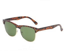 Chinese  2019 new Classic Brand designer uv400 Club Sunglasses Men Women Semi Rimless Master Sunglass oversized driving gradient lens 4175 Eyewear manufacturers