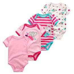 $enCountryForm.capitalKeyWord NZ - 2019 4pcs lot Baby Boy Clothes Unicorn Cotton Newborn Short Sleeve Bodysuit Baby Girl Clothes Cartoon Unisex Ropa Bebe J190524