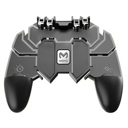 $enCountryForm.capitalKeyWord Australia - 2019 AK66 Six Fingers PUBG Game Controller Gamepad Metal Trigger Shooting Free Fire Gamepad Joystick For IOS Android Mobile Phone
