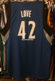 Jerseys Wolf Australia - Cheap wholesale Kevin Love Jersey Sewn AD Wolves Men #42 T-shirt vest Stitched Basketball jerseys Ncaa