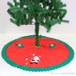 holiday party skirts Canada - Christmas Trees Skirts Party 90CM Xmas Tree Skirt New Year Holiday Party Supplies Home Floor Decor Santa Claus Tree Skirt BH0224-1 TQQ