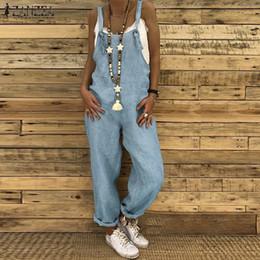 $enCountryForm.capitalKeyWord Australia - Zanzea Summer Straps Jumpsuits Women Dungarees Bib Overalls Cotton Linen Rompers Combinaison Casual Female Playsuits Harem Pants Y19062201