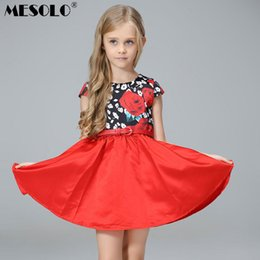 5bfc44c837 good quality 2019 spring and summer new style European and American wind girl  print dress