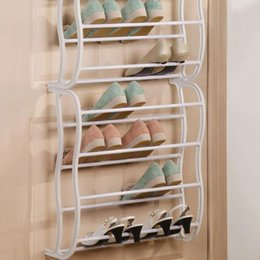 shoe storage diy Canada - Racks Storage Organizer Diy Assembled Iron Multiple Layers Shoes Shelf Stand Holder Door Stackable Shoe Rack Save Space Q190610