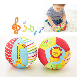 Baby Rattles Australia - Baby Toys Children Animal Ball Soft Plush Mobile Toys With Sound Baby Rattle Infant Body Building Ball Toys 0-12 Months