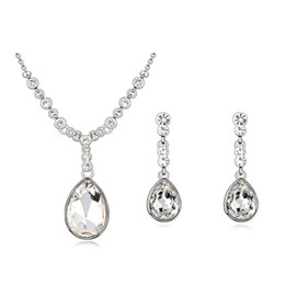 9f0188df7ab Drop earrings make swarovski online shopping - High quality Montana color  drop necklace earrings set Made