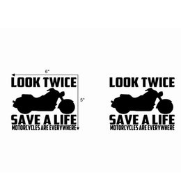 $enCountryForm.capitalKeyWord Australia - Look Twice Save A life Funny Picture Tips Car Window Bumper Truck Unique Decor Decals