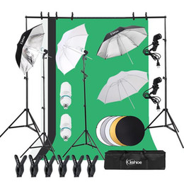 Photo studios online shopping - 2M x M Background Support System and W K Umbrellas Softbox Continuous Lighting Kit for Photo Studio Product Portrait and Video Shoot