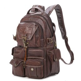 backpack materials 2019 - New Large Capacity Pvc Material College Vintage Shoulder Women Backpack Lady Fashion Travel Computer Leather Backpack Mo
