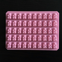 China Practical Cute Gummy Bear 50 Cavity Silicone Tray Make Chocolate Candy Ice Jelly Mold DIY Children Cake Tools Wholesale D0026-1 supplier candy making mold suppliers