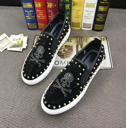 $enCountryForm.capitalKeyWord Australia - skull rivet punk shoes Rock Trendy Casual Shoes rhinestone Spiked loafers Male walking Dress moccasins shoes red black zapatos hombre