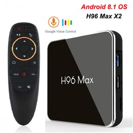 $enCountryForm.capitalKeyWord Australia - Google Voice Control TV Box Android 8.1 4GB 64GB Amlogic S905X2 LPDDR4 Smart Media Player Dual Wifi H.265 1080p 4K USB3.0 H96 MAX X2