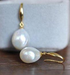 $enCountryForm.capitalKeyWord Australia - GORGEOUS pair of 11-12mm south sea drop white pearl earring14k