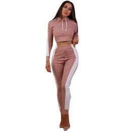 $enCountryForm.capitalKeyWord UK - Women Fitness Yoga Set Gym Sports Running Hooded Tracksuit Jogging Dance Sport Suit Workout Clothing T-Shirt Pants Set