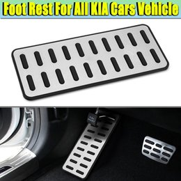 $enCountryForm.capitalKeyWord Australia - 1Pcs Universal Car 304 SS Original Rest Pedal Pad Interior Footrest Cover Aluminum Alloy For KIA All Car Models