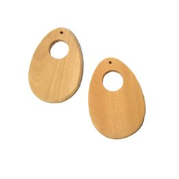 wooden pendant shapes Australia - Hollow Wood Drop Shapes Earring Accessories Wooden Pendant Charms DIY Earrings Jewelry Making Wind Chimes Hanging Decorations Crafts