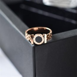 $enCountryForm.capitalKeyWord Australia - Martick Hot Rings Woman Rings Stainless Steel Black Roman Numerals Rings Rose Gold Color Hollow Out Fashion Jewelry R101