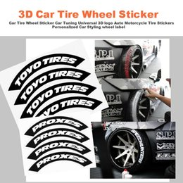 3d tuning car online shopping - Car Tire Sticker Car Tuning Universal D Logo Years Auto Motorcycle Tire Wheel Stickers Personalized Styling Wheel Label