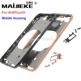 Iphone Front Yellow Australia - wholesale New Front Bezel Chassis Frame For iphone X 8 8G 8 Plus Back housing Middle Frame with Side Buttons Set Replacement