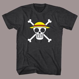 pirates logos 2019 - One Piece Pirates Skull Logo Men's Black T Shirt Tee ShirtFunny free shipping Unisex Casual Tshirt top cheap pirate