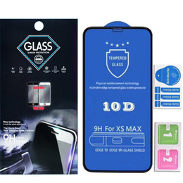 $enCountryForm.capitalKeyWord Australia - 10D Full Cover Full Glue Tempered Glass Screen Protector For Iphone XR XS XS MAX X 6 7 8 Plus in paper bag retail package dhl free ship