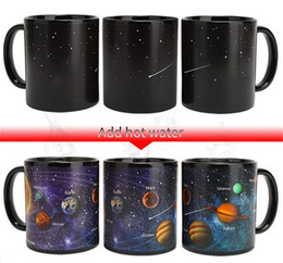 Solar ceramicS online shopping - Hot Bar Dining Ceramic Cups Changing Color Mug Milk Coffee Mugs Friends Gifts Student Breakfast Cup Star Solar System Mugs