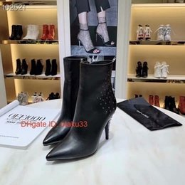 Korean shoes woman style online shopping - 2019 Hot Sell Fashion Women Leather Boots Shoes Women High Heels Animal Motifs Heel korean style