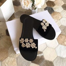flat velvet slippers red 2019 - Hot Sale-women's sandals summer shoes platform ootwear wedge 2019 New Spring Summer Slippers Shoes Woman Cozy Flats