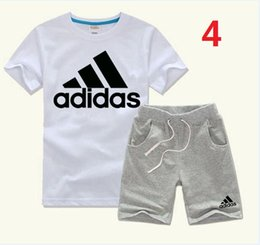 $enCountryForm.capitalKeyWord NZ - New style Children's clothing casual sports sets baby summer clothes 2pcs infant Kids fashion short sleeve sports suit
