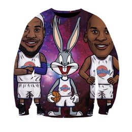 Fitness Fans Australia - 2019 men clothes basketball fans clothes mens sweatshirt Bugs Bunny anime Fitness teens boys sportwear spring loose thin tops