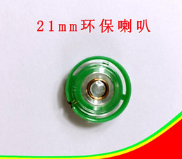 Chinese  Manufacturers supply 36mm 40mm 50mm21mm 27mm 29mm diameter toy horn speaker 0.25W green color . car manufacturers