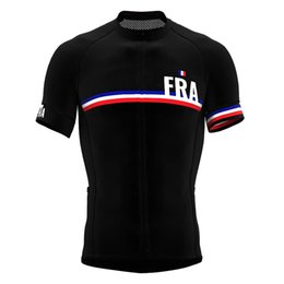 Discount france white jersey France Pro Cycling Jersey Breathable Bicycle Clothing Men Summer cycling clothing Bike wear Back Pocket with zipper