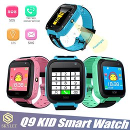 Pink boxes watches online shopping - Kid Smart Watch Q9 Smart Bracelet Baby Watch with Remote Camera LBS SOS Safty Watches SIM Card Slot with Retail Box