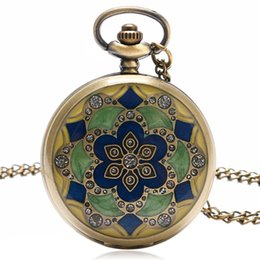 $enCountryForm.capitalKeyWord UK - Vintage Pocket Watch Green Jade Crystal Deisgner Casual Fob Watches Women Pendatn Gift With Necklace Chain P52