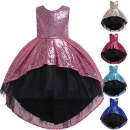 $enCountryForm.capitalKeyWord Australia - Sequined Flower Girl Dress High Low Formal Birthday Perform Party Tutu Gown Kids Children Clothes