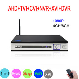 $enCountryForm.capitalKeyWord NZ - 8CH 4CH 1080P Surveillance Video Recorder 6 in 1 Hybrid Wifi Onvif NVR TVI CVI AHD DVR Silver Panel Hi3521A XMeye