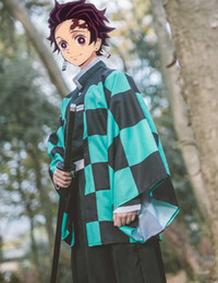 anime clothing for Canada - Demon Slayer: Kimetsu no Yaiba mens Kamado Tanjirou cosplay cape costumes Zenitsu Giyuu cape Clothing for Plush Stuff