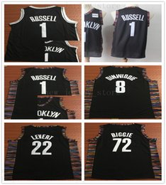 9c8c9a06b2ee City Men Edition 1 DAngelo Russell Jersey D Angelo 8 Spencer Dinwiddie 22 Caris  LeVert 72 Biggie Black Brooklyn Way Basketball Nets Infor