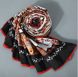 $enCountryForm.capitalKeyWord Australia - Luxury Design Brand Scarves 130*130cm Square Scarfs And Shawls Wraps Hijabs Beach Coverup High Quality Euro Stylish Imitation Silk Scarf Win