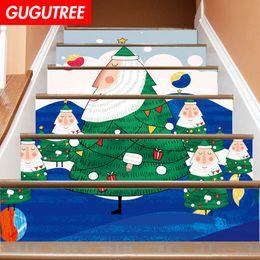 $enCountryForm.capitalKeyWord NZ - Decorate Home 3D Christmas cartoon art wall Stair sticker decoration Decals mural painting Removable Decor Wallpaper G-671