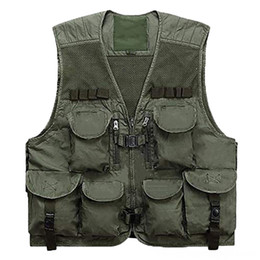 mens travel jackets Australia - Mens Fishing Mesh Photography Work MultiPockets Vest Outdoors Hunting Travel Safari Vest Journalists Jacket Outdoor Wear Athletic & Outdoor