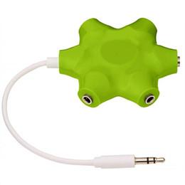 Vente en gros Haute Qualité 5 en 1 3.5mm Câble Audio Écouteur Splitter Adaptateur 5Way Casque Multi Splitter Audio Adaptateur Écouteur